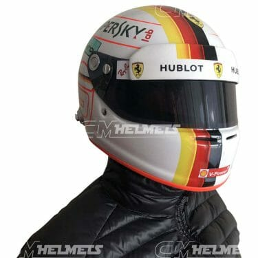 Sebastian-Vettel-2018-Barcelona-Canada- Azerbaijan-GP-F1-Replica-Helmet-Full-Size-be-head