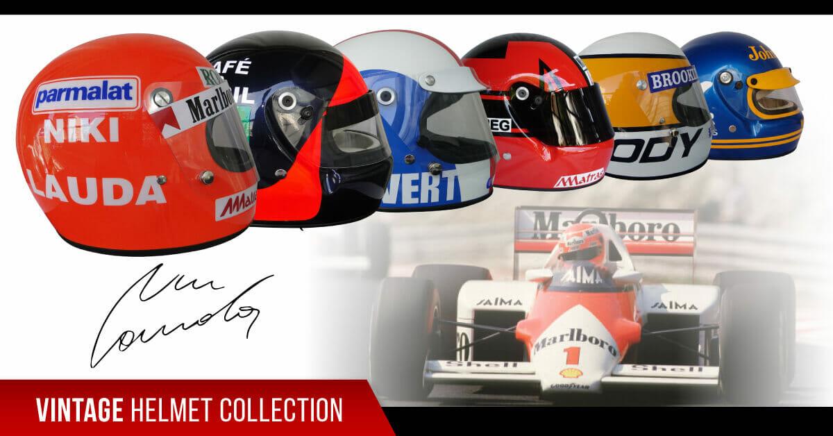 f1 vintage helmet collection
