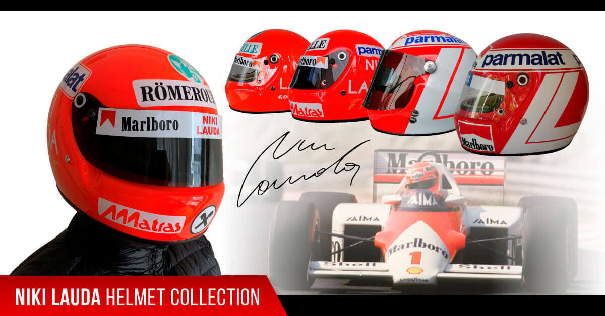 driver Niki Lauda f1 replica helmets