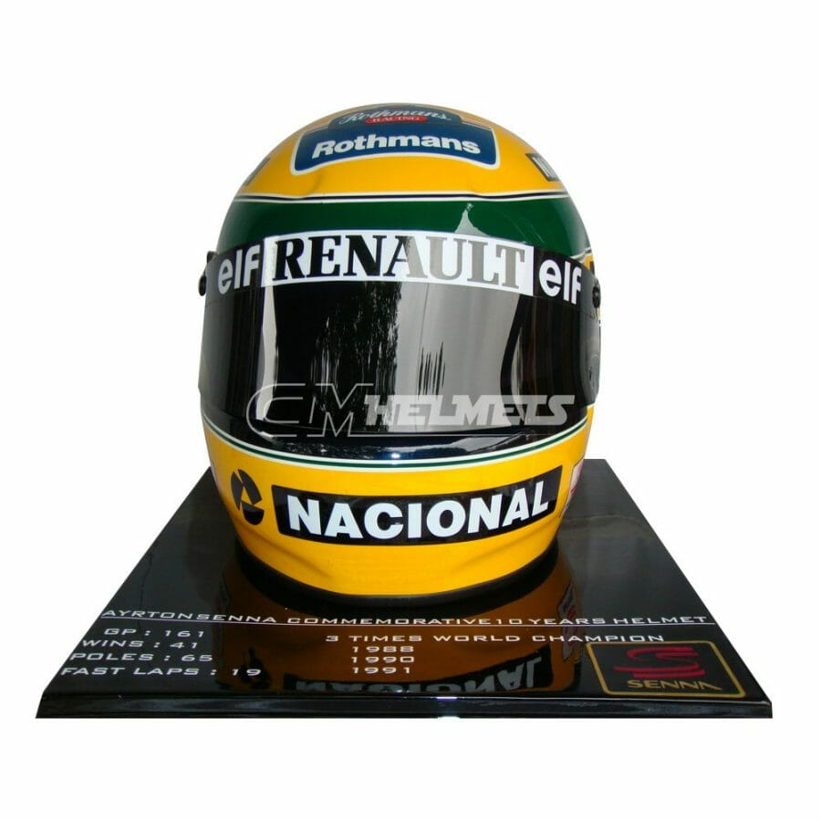 AYRTON-SENNA-1994-10-YEARS-COMMEMORATIVE-LIMITED-EDITION-F1-REPLICA-HELMET-FULL-SIZE-4