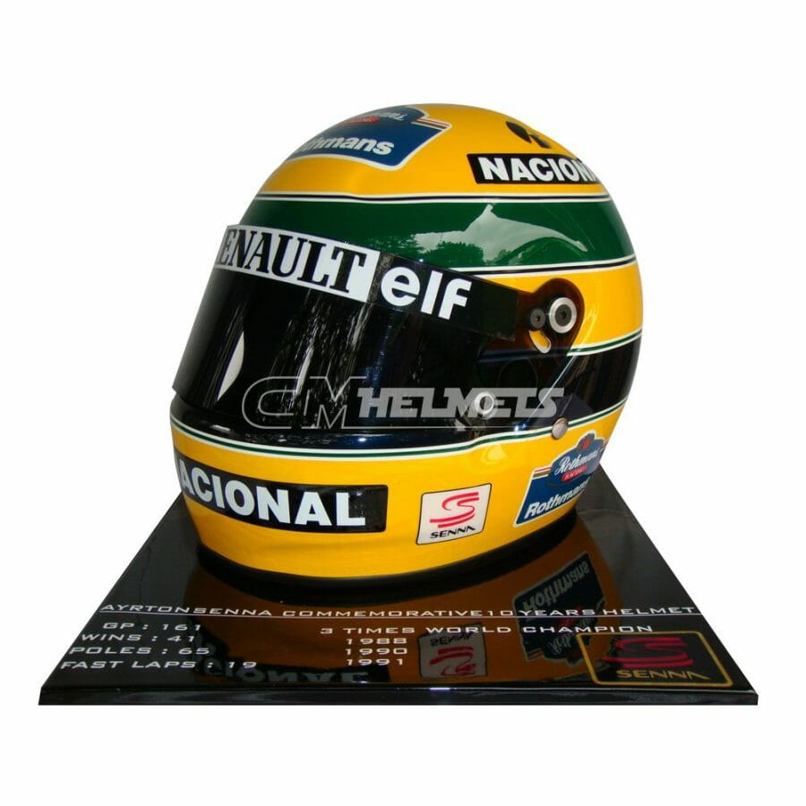 AYRTON-SENNA-1994-10-YEARS-COMMEMORATIVE-LIMITED-EDITION-F1-REPLICA-HELMET-FULL-SIZE-5