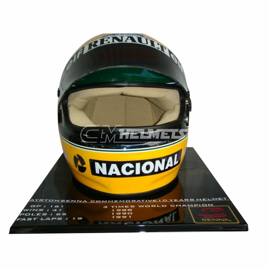 AYRTON-SENNA-1994-10-YEARS-COMMEMORATIVE-LIMITED-EDITION-F1-REPLICA-HELMET-FULL-SIZE-8